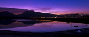 Evening landscape of Cody Wyombing