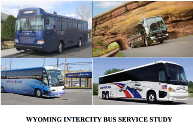 Report cover showing examples of Intercity Busses